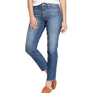Universal Thread Raw Hem High Rise Straight Jean